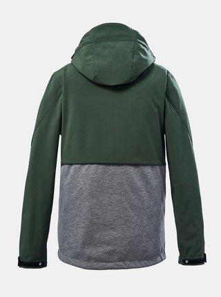 Šedo-zelená klučičí softsheelová bunda killtec