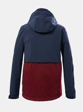 Vínovo-modrá klučičí softsheelová bunda killtec