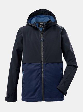 Modro-černá klučičí softsheelová bunda killtec