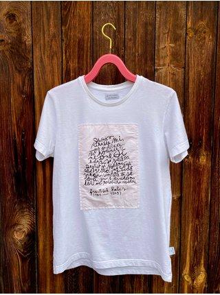 Bílé unisex tričko poeTEE - HALAS VecizVeci