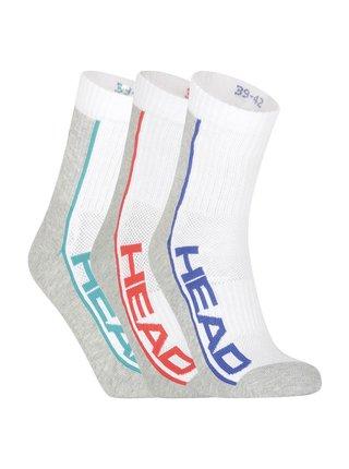 3PACK ponožky HEAD vícebarevné