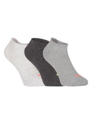 3PACK ponožky Puma šedé