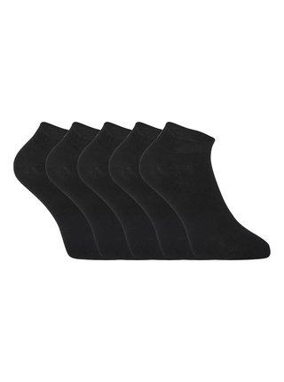 5PACK ponožky Styx nízké bambusové černé