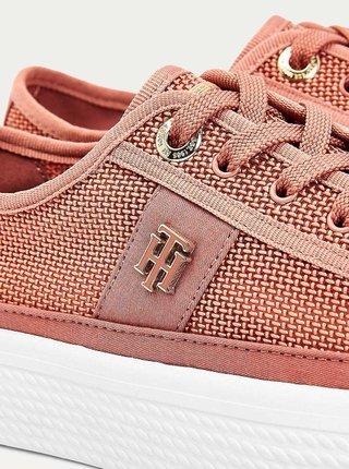 Ružové dámske tenisky na platforme Tommy Hilfiger