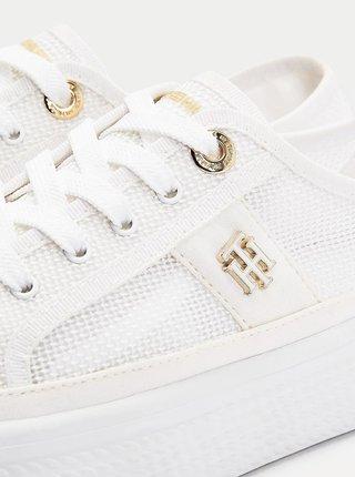 Bílé dámské tenisky na platformě Tommy Hilfiger