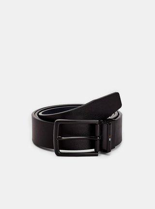 Čierny pánsky kožený obojstranný opasok Tommy Hilfiger