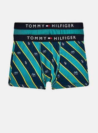 Sada dvoch zelených chlapčenských vzorovaných boxeriek Tommy Hilfiger