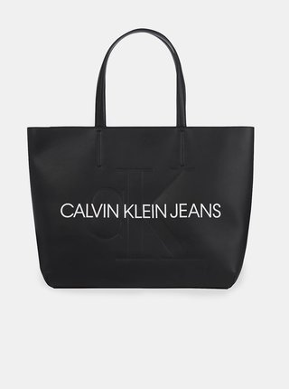 Čierna veľká kabelka s nápisom Calvin Klein