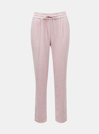Svetloružové ľanové nohavice VERO MODA Milo