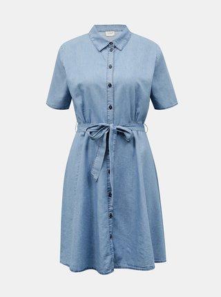 Světle modré džínové košilové šaty Jacqueline de Yong Bianka