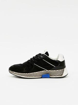 Černé pánské kožené tenisky Replay