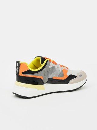 Oranžovo-šedé pánske tenisky Replay