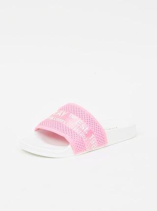 Růžové dámské vzorované pantofle Replay