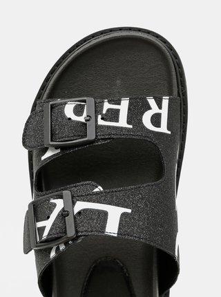 Černé dámské vzorované pantofle Replay