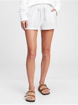 Bílé dámské pyžamo vé kraťasy slub jersey shorts GAP