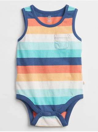 Barevné klučičí baby body pocket print bodysuit GAP