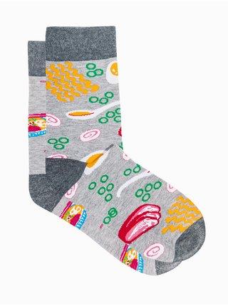 Pánské ponožky U166 - šedá