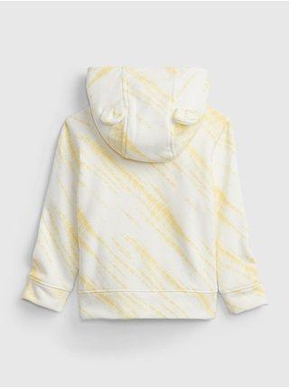 Žlutá holčičí baby mikina GAP Logo arch novelty hoodie