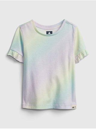 Barevný holčičí dětské top pocket wash effect t-shirt GAP