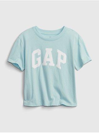 Modré holčičí dětské tričko GAP Logo short sleeve t-shirt