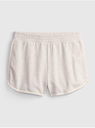 Smetanové holčičí dětské šortky high rise dolphin shorts GAP