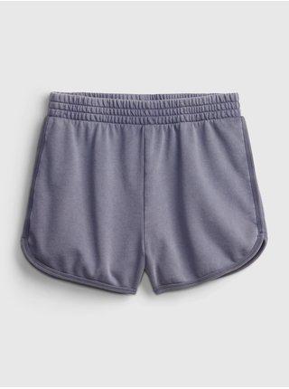 Modré holčičí dětské šorty high rise dolphin shorts GAP