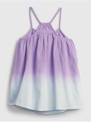 Růžové holčičí dětské šaty flowy dress GAP