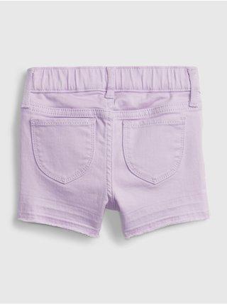 Růžové holčičí dětské kraťasy purple shortie GAP