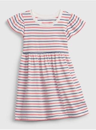 Růžové holčičí dětské šaty skater dress GAP