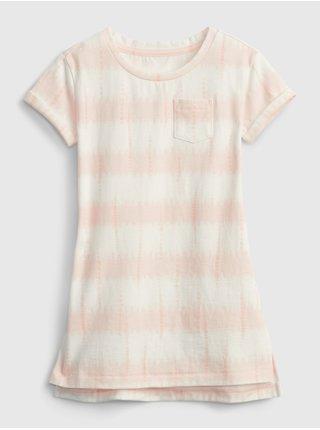 Růžové holčičí dětské šaty t-shirt dress GAP