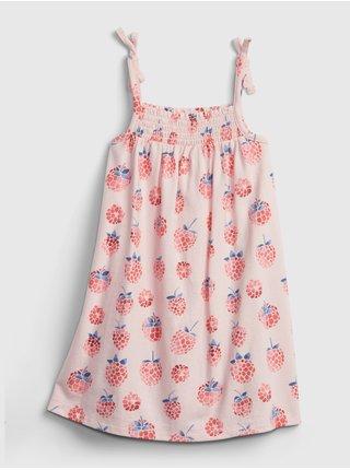 Červené holčičí dětské šaty tie smock dress GAP