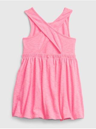 Růžové holčičí dětské šaty back sk8r dress GAP