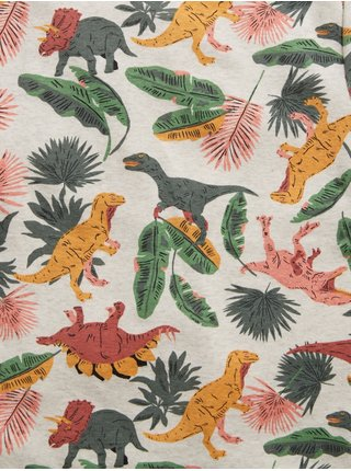 Barevné klučičí dětské pyžamo dinosourus print organic cotton pj set GAP