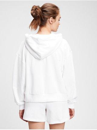 Bílá dámská mikina GAP Logo abbreviated hoodie