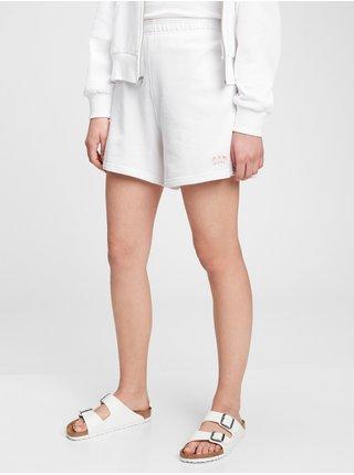 Bílé dámské kraťasy GAP Logo high rise boyfriend shorts