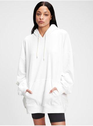 Bílá dámská mikina vintage soft boyfriend hoodie GAP