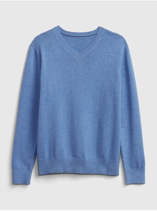 Modrý klučičí dětský svetr uniform GAP
