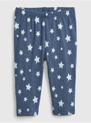 Modré holčičí dětské legíny organic cotton crop leggings GAP