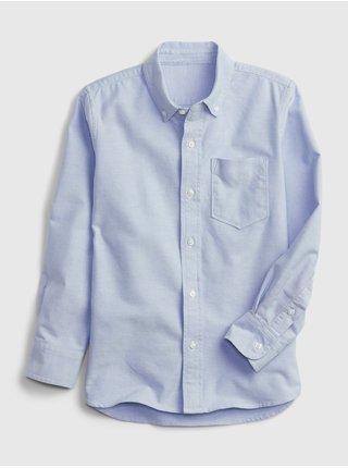 Modrá klučičí dětská košile oxford GAP