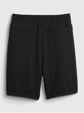 Černé klučičí dětské kraťasy liner shorts GAP