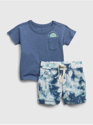 Modrý klučičí baby set tie-dye outfit GAP