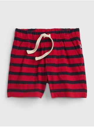 Červené klučičí baby kraťasy pull-on stripe short GAP