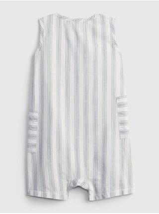 Bílý holčičí baby overal woven shorts suits GAP