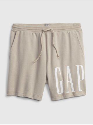 Béžové pánské kraťasy corp logo short GAP