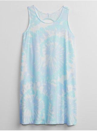 Modré holčičí dětské šaty print swing dress GAP