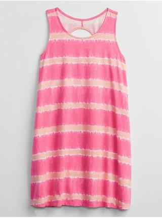 Růžové holčičí dětské šaty print swing dress GAP