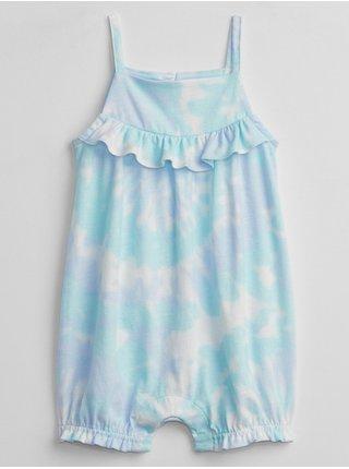 Modrý holčičí baby overal ruffle tie-dye shorty one-piece GAP