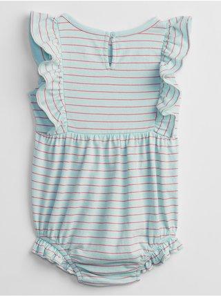 Modré holčičí baby body stripe bubble shorty one-piece GAP