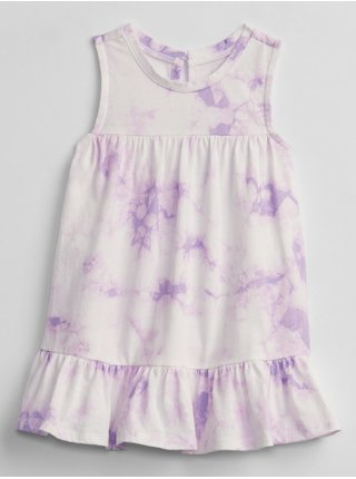 Fialové holčičí baby šaty sleeveless tie-dye dress GAP