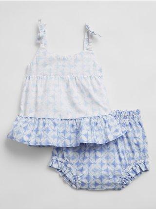 Modré holčičí baby plavky tiered outfit set GAP